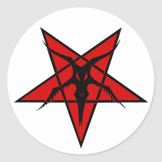 Vereinfachter Baphomet Pentagram Runder Aufkleber