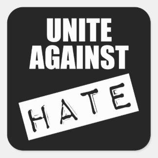 Vereinigen Sie gegen Hass Quadratischer Aufkleber