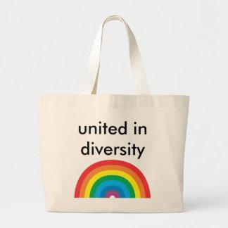 vereinigt im Diversity Jumbo Stoffbeutel