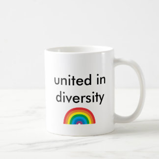 vereinigt im Diversity Kaffeetasse