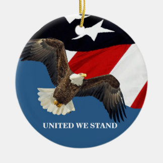 Vereinigt wir Stand/USA Keramik Ornament