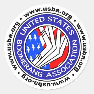 Vereinigte Staaten Boomerang kleinen Aufkleber der