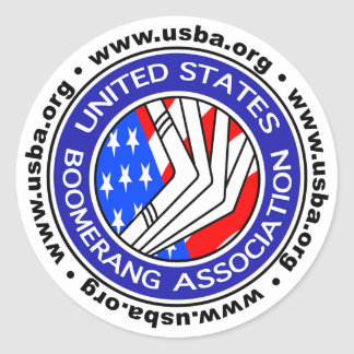 Vereinigte Staaten Boomerang Vereinigung rundes Runder Aufkleber