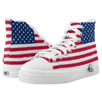 Vereinigte Staaten kennzeichnen USA amerikanisches Hoch-geschnittene Sneaker