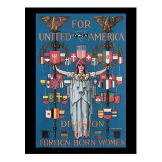 Vereinigter Amerika-Zweiter Weltkrieg Postkarte