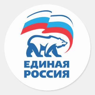 Vereinigtes Russland Runder Aufkleber
