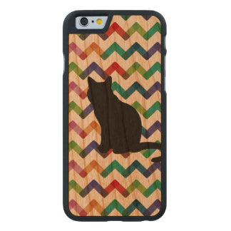 Verenas Cat iPhone Case Slim Carved® iPhone 6 Hülle Kirsche