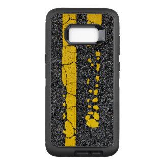 Verfallene doppelte gelbe Linie OtterBox Defender Samsung Galaxy S8+ Hülle
