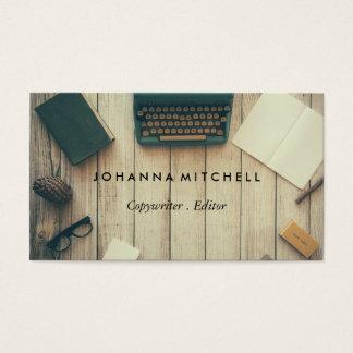 Verfasser-Herausgeber Typwriter Visitenkarte