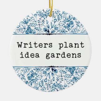 Verfasser-Pflanzen-Ideen-Gärten des Rundes Keramik Ornament