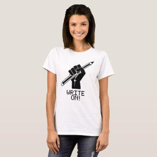 Verfasser-Shirt schreiben auf T-Stück T-Shirt