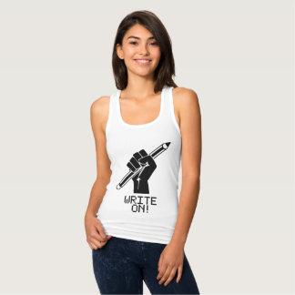 Verfasser-Shirt schreiben auf T-Stück Tank Top
