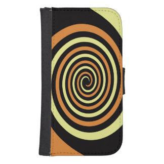 Verflochtene Spiralen-Entwurfs-Telefon-Geldbörse Galaxy S4 Geldbeutel