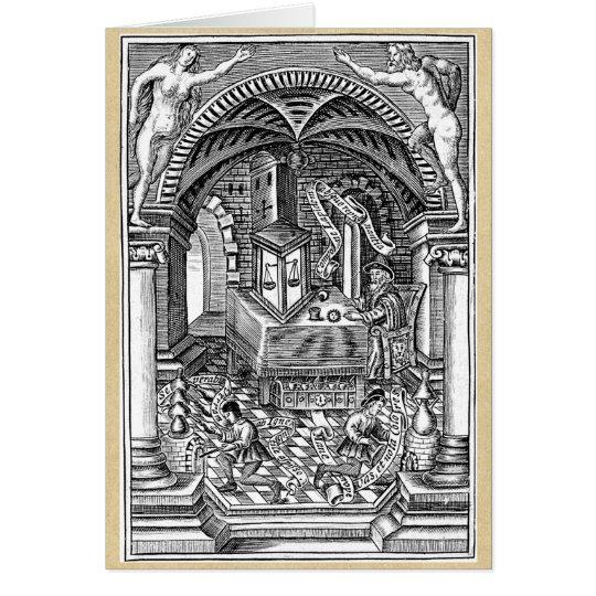 Verfolgung des Steins des Philosophen Grußkarte
