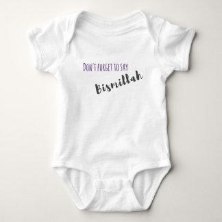 Vergessen Sie nicht, Bismillah zu sagen - Baby Strampler