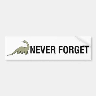 Vergessen Sie nie Autoaufkleber