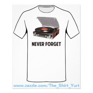 Vergessen Sie nie Vinylplattenspieler