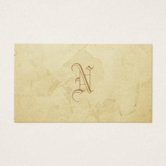 Vergoldet Monogramm Grunge Visitenkarte