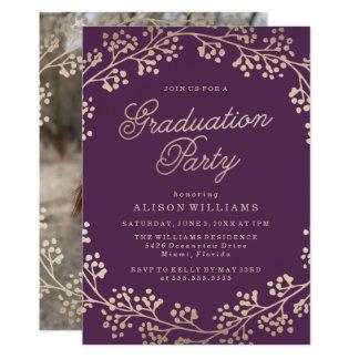 Vergoldete BronzeAbschluss-Party Einladung