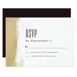 Vergoldete Bürsten-Hochzeit UAWG Karte 8,9 X 12,7 Cm Einladungskarte
