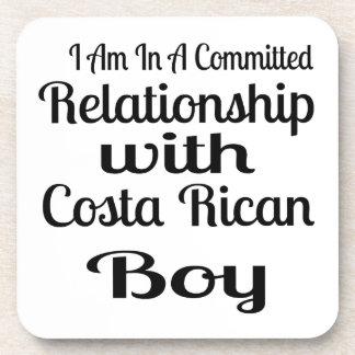 Verhältnis zu Costa Rican Jungen Untersetzer