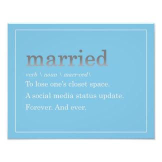 Verheiratet Fotodruck
