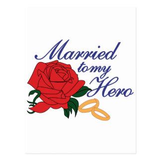 Verheiratet zu meinem Held Postkarte