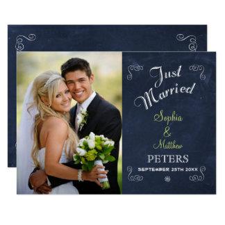 Verheiratete Karte der Tafel-| des Foto-| gerade 12,7 X 17,8 Cm Einladungskarte