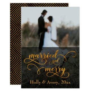 Verheiratete u. fröhliche 12,7 x 17,8 cm einladungskarte