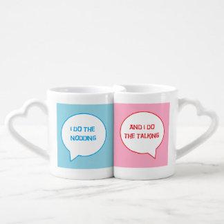 Verheiratetes Paar-Tassen-Set Liebestassen