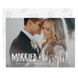 Verheiratetes u. helles Feiertags-Foto 12,7 X 17,8 Cm Einladungskarte