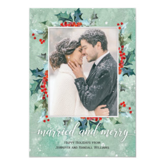 Verheiratetes und fröhliches Feiertags-Grün Karte