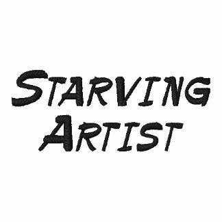 Verhungernder Künstler-lustiges Polo-Shirt