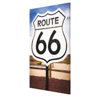 Verkehrsschild des Weges 66, Arizona Leinwanddruck