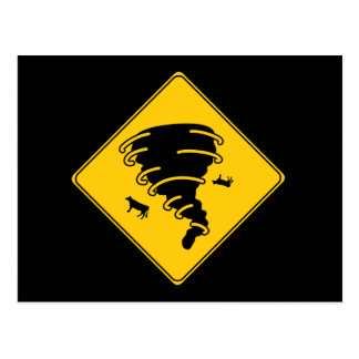 Verkehrsschild-Tornado Postkarte