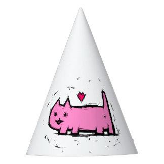 Verkratzte Katze Partyhütchen