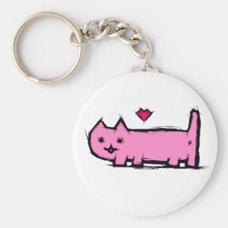 Verkratzte Katze Schlüsselanhänger