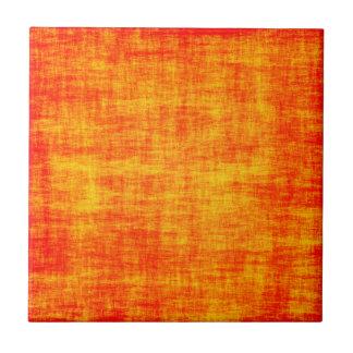 Verkratzte Orange Kleine Quadratische Fliese