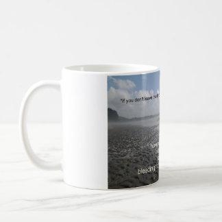 Verlassen Sie das Land Kaffeetasse