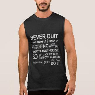 Verlassen Sie nie Turnhallen-Motivations-Behälter Ärmelloses Shirt