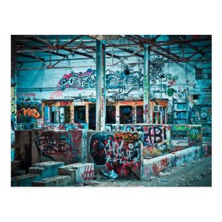 Verlassene Fabrik-Fotografie-Postkarte Postkarte