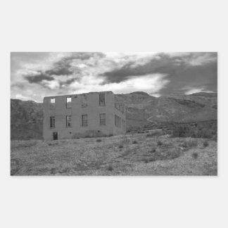 Verlassene Gebäude-Fotografie Rechteckiger Aufkleber