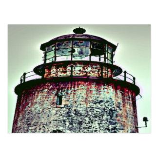 Verlassener Leuchtturm Postkarte