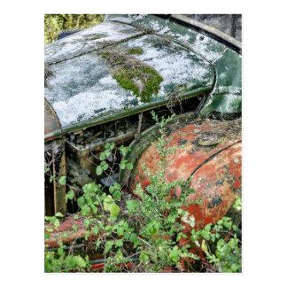 Verlassener Vintager LKW Postkarte