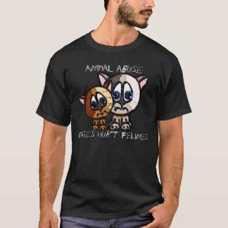 Verletzter Felines Dunkelheits-T - Shirt
