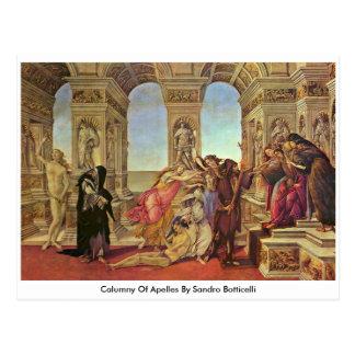 Verleumdung von Apelles durch Sandro Botticelli Postkarte