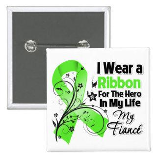 Verlobte-Held in meinem Leben-Lymphom-Band Quadratischer Button 5,1 Cm