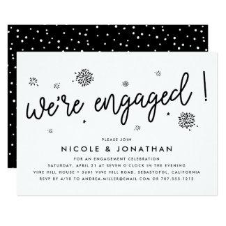 Verlobungs-Party Einladung der Feuerwerk-|