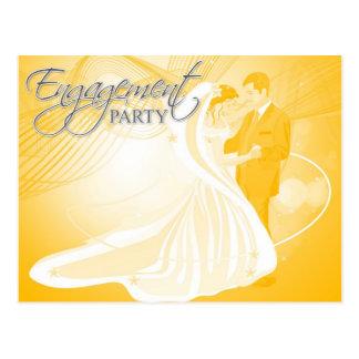 Verlobungs-Party Einladung Postkarte