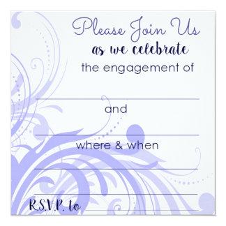 Verlobungs-Party Einladungen im Singrün
